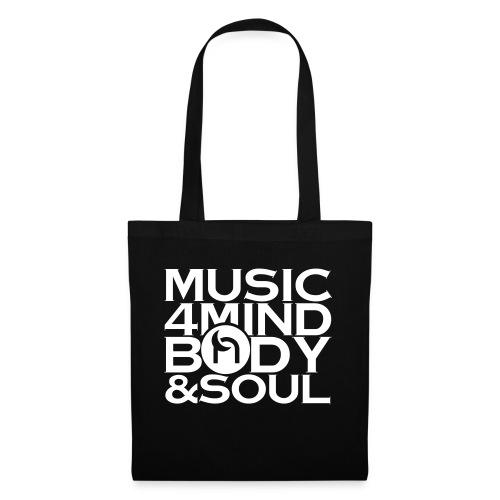 Music 4 Mind, Body & Soul White - Tote Bag