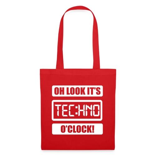 Rave Tshirt Technoclock - Stoffbeutel