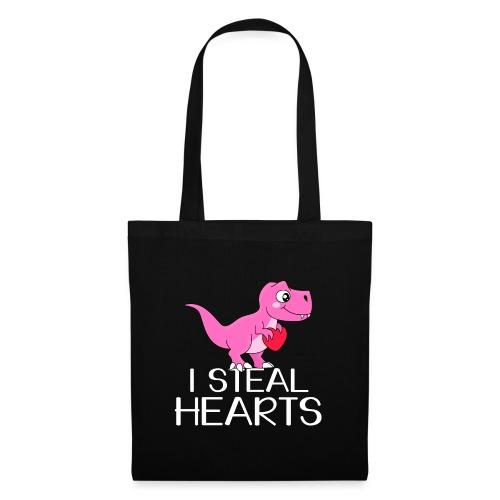I steal hearts T-Rex - Stoffbeutel