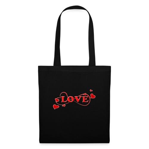 Love forever mit Herzchen, Valentinstag, Liebe - Stoffbeutel