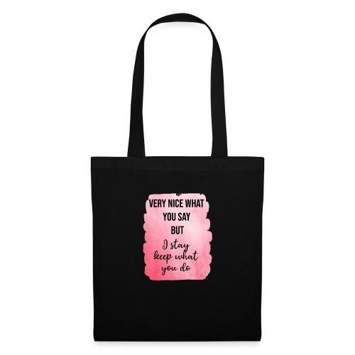 logo frases rosas - Bolsa de tela