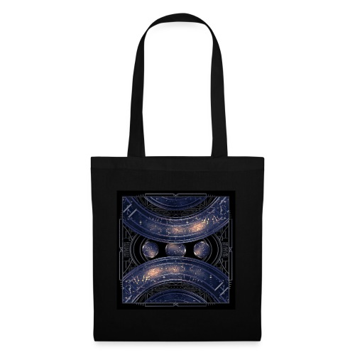 Universe outer space blue outer space galaxy art - Tote Bag