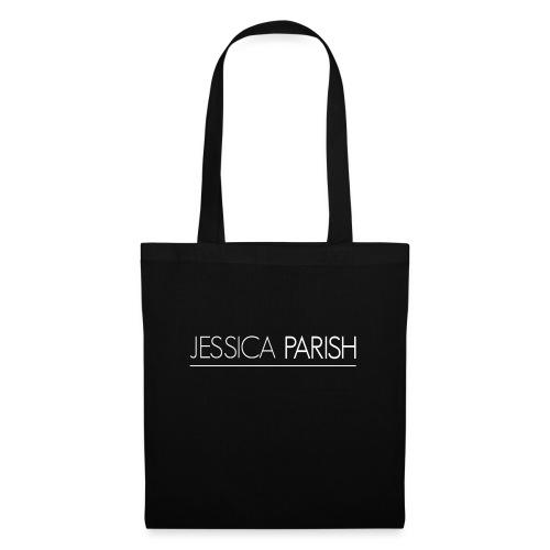 Jessica Parish Schriftzug weiß - Stoffbeutel