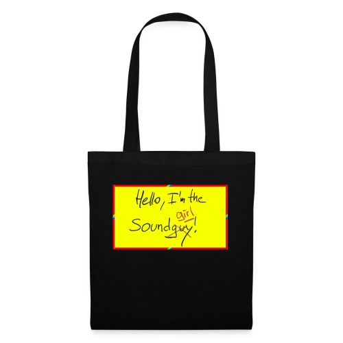 hello, I am the sound girl - yellow sign - Tote Bag