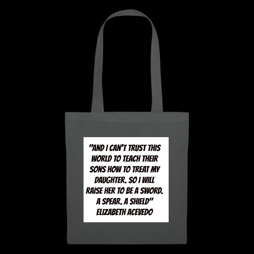 Quote by Elizabeth Acevedo - Tote Bag