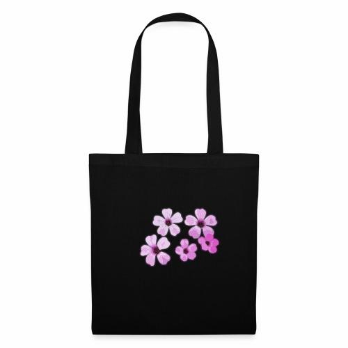 Blumen violett - Stoffbeutel
