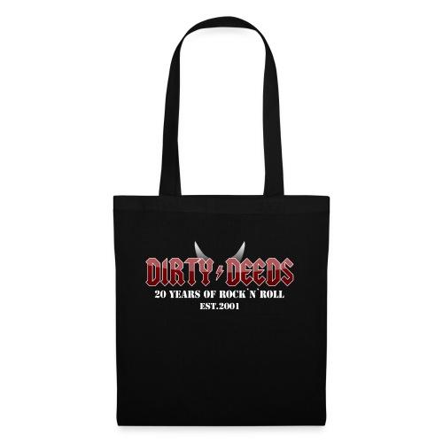 Dirty Deeds 20 Anniversary Druck f dunkel - Stoffbeutel