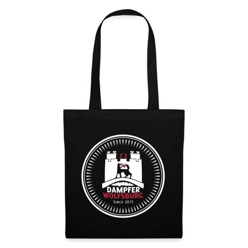 rz_logo_badge_auf_schwarz - Stoffbeutel