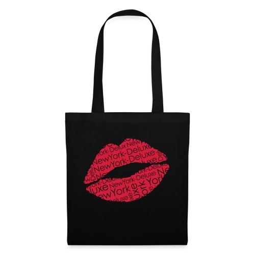 New York Deluxe Lippen Motiv - Stoffbeutel