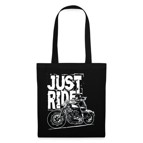 Biker Girl White - Tote Bag