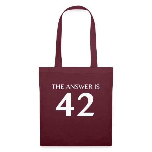 The Answer is 42 White - Tote Bag