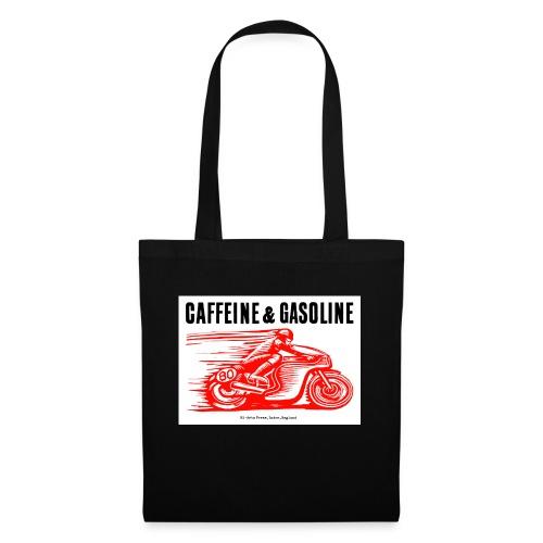 Caffeine & Gasoline black text - Tote Bag