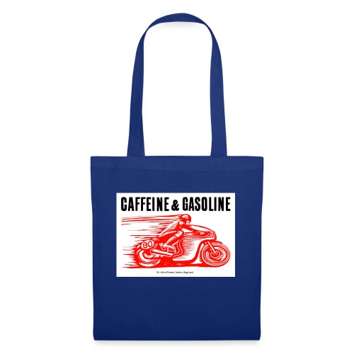 Caffeine & Gasoline black text - Tote Bag
