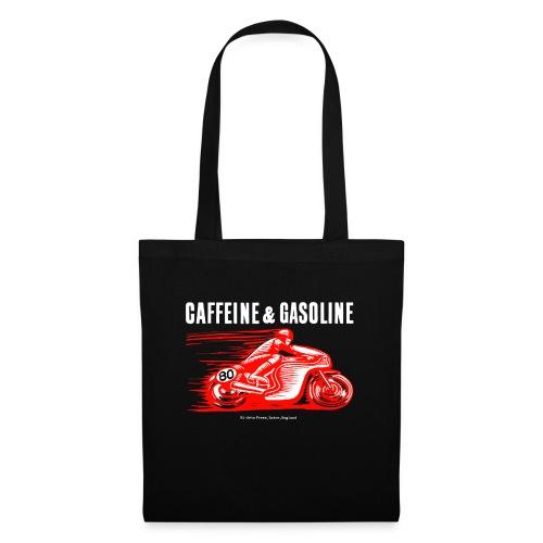 Caffeine & Gasoline white text - Tote Bag