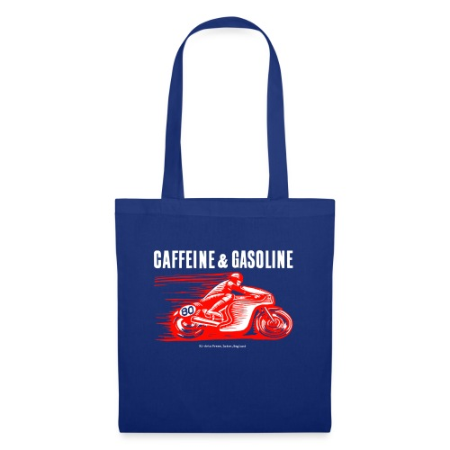 Caffeine & Gasoline white text - Tote Bag
