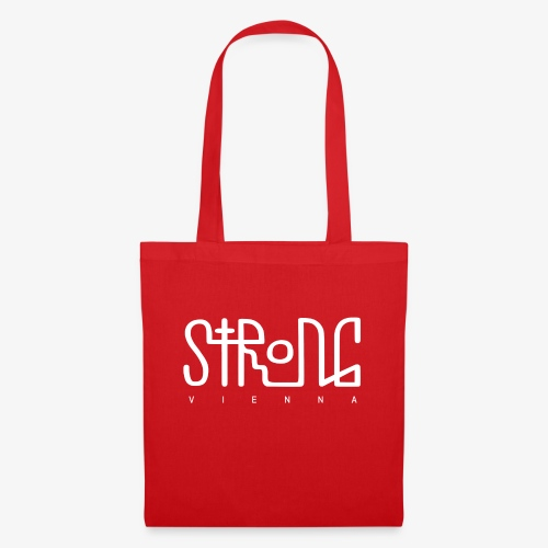 strong vienna logo white - Tote Bag