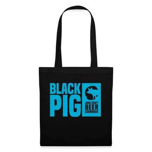 BlackPig Horizontal Bleu - Tote Bag