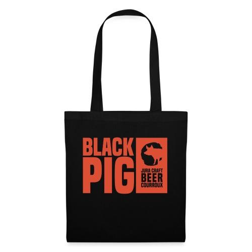 BlackPig Horizontal Orange - Tote Bag