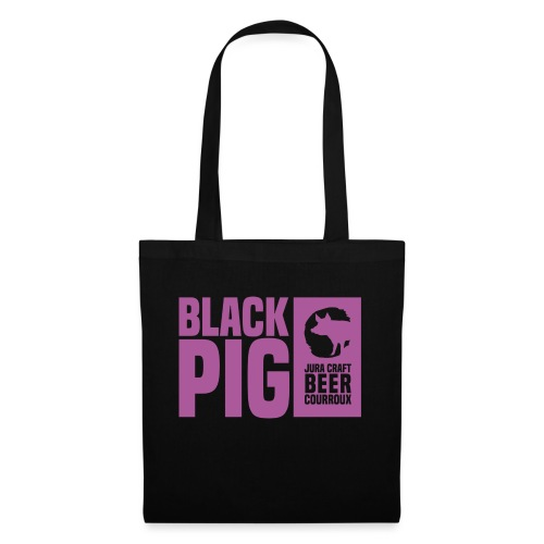 BlackPig Horizontal Purple - Tote Bag