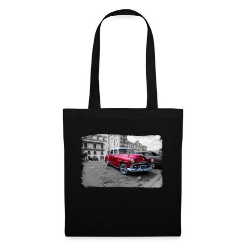 macchina rossa lucida - Borsa di stoffa