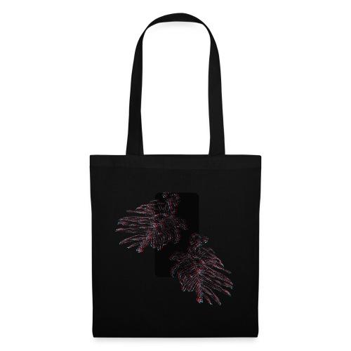 Illusion tropicale noire - Sac en tissu