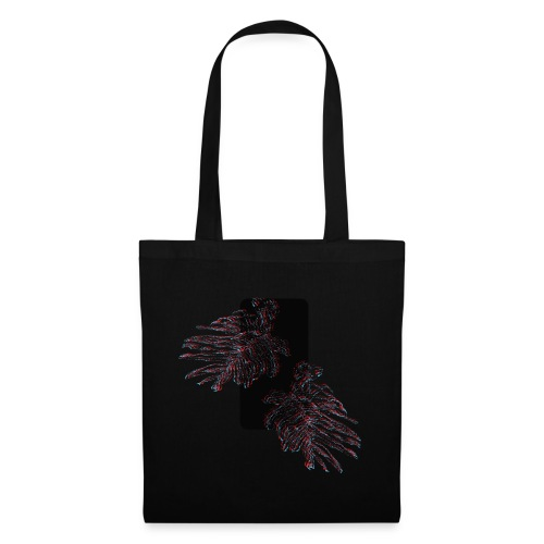 Illusion tropicale noire - Tote Bag
