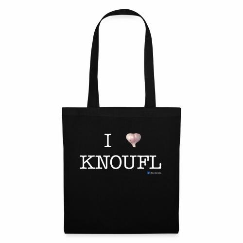 i love knoufl white - Stoffbeutel