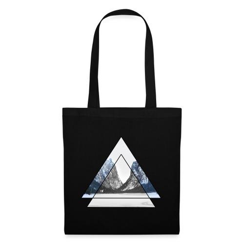 mountains geometric triangular landscape - Borsa di stoffa