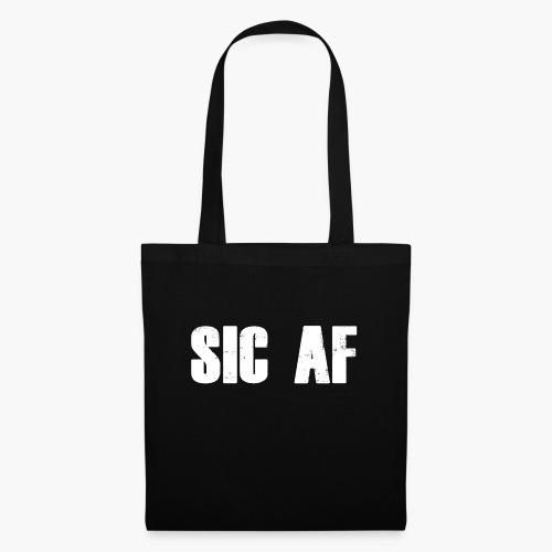 SIC AF Weiß - Stoffbeutel
