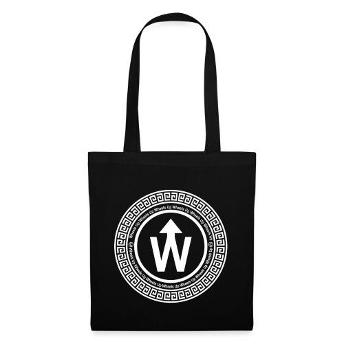 wit logo transparante achtergrond - Tas van stof