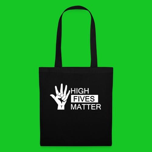 High fives matter - Tas van stof