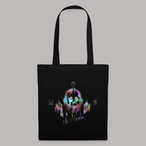 MB13 - skull - rainbow - thirteen - Tote Bag