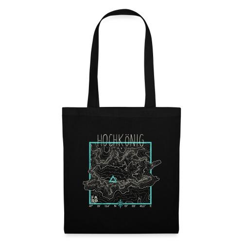 Hochkoenig Contour Lines - Square - Tote Bag