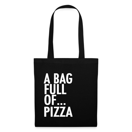 PIZZA WHITE png - Tote Bag