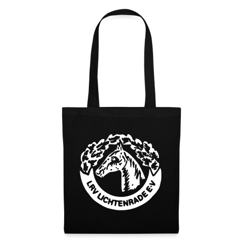 horse_logo_white_big - Stoffbeutel
