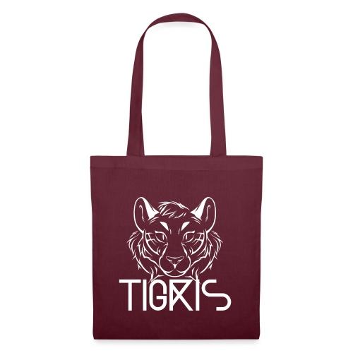 Tigris Logo Picture Text White - Tote Bag