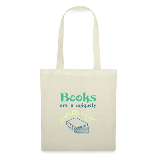 0028 books are unique magic | reader - Tote Bag