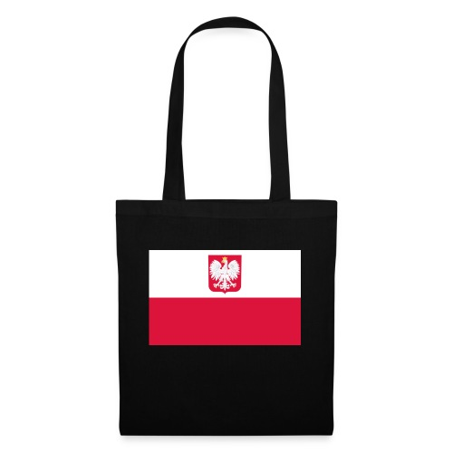 Flag of Poland with coat of arms - Torba materiałowa