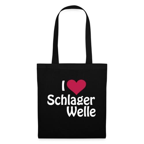 I love Schlagerwelle - Logo in Weiß - Stoffbeutel