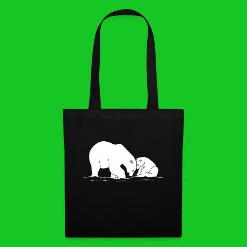 ijsbeer met jong - Tas van stof