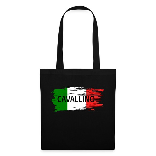 Cavallino auf Flagge - Stoffbeutel