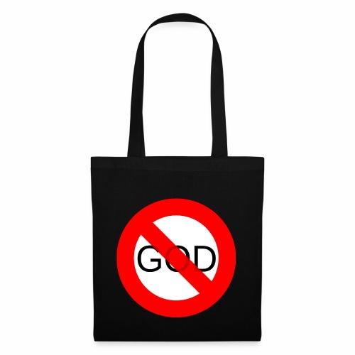 Znak zakazu - No God - Torba materiałowa