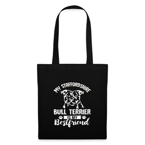 STAFFORSHIR- BULLTERRIER-BEST-FRIEND - Stoffbeutel
