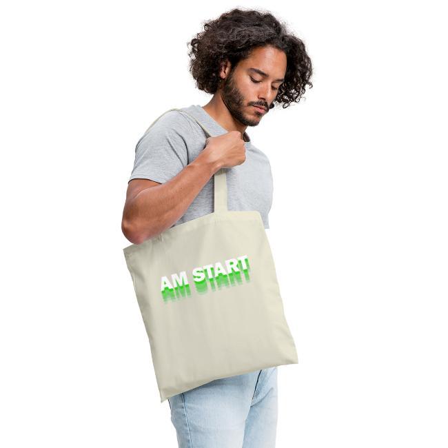 am Start - grün weiß faded