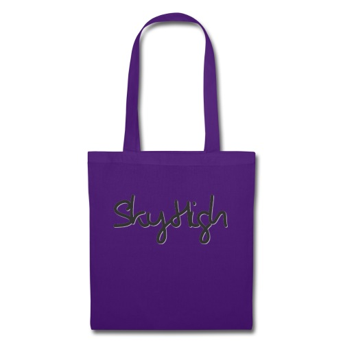 SkyHigh - Men's Premium Hoodie - Black Lettering - Tote Bag