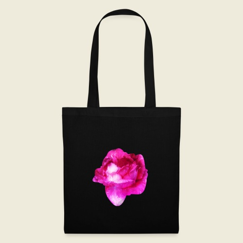 Zauberhafte pinke Rose - Stoffbeutel