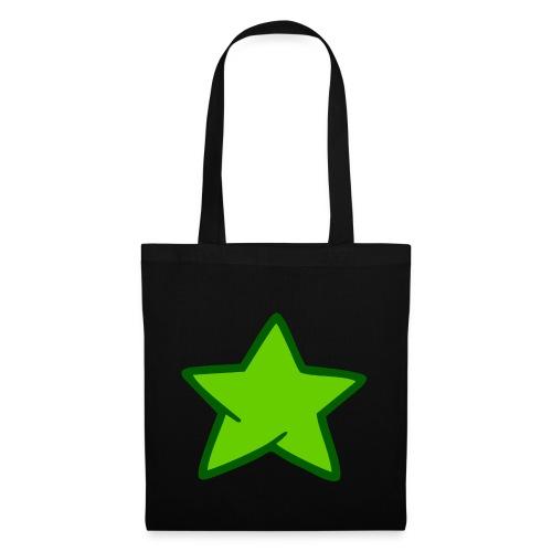 Estrella verde - Bolsa de tela