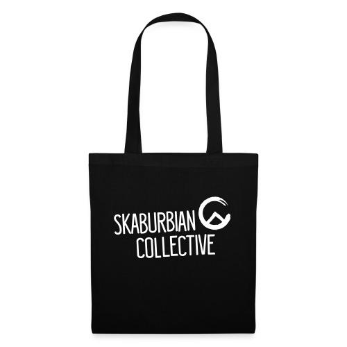 Skaburbian Logo White on Black - Tote Bag