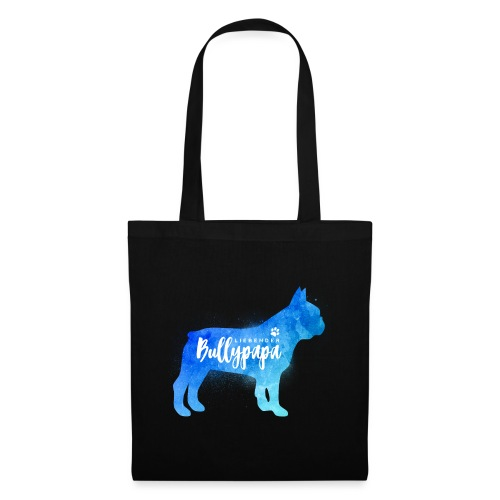 Liebender Bullypapa - Französische Bulldogge - Stoffbeutel