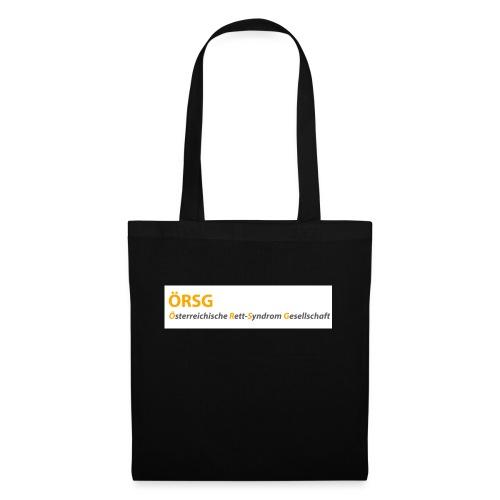 Text-Logo der ÖRSG - Rett Syndrom Österreich - Stoffbeutel